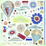 FarmHouse Paper Company - Fair Skies Collection - Chipboard Stickers - Dawn