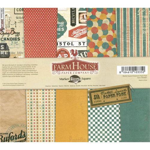 FarmHouse Paper Company - Market Square Collection - 12 x 12 Paper Pack - Emporium
