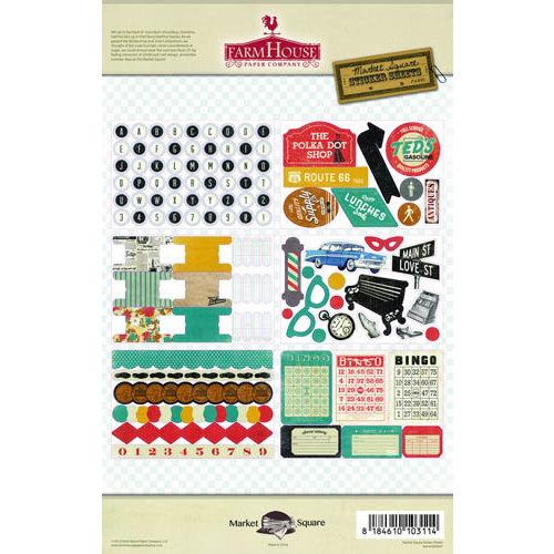 FarmHouse Paper Company - Market Square Collection - Cardstock Stickers
