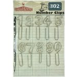 FarmHouse Paper Company - 302 Collection - Metal Number Clips