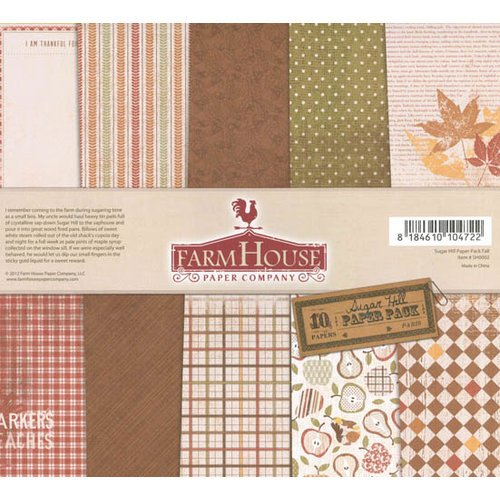 FarmHouse Paper Company - Sugar Hill Collection - 12 x 12 Paper Pack - Fall