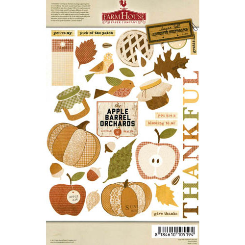 FarmHouse Paper Company - Sugar Hill Collection - Chipboard Stickers - Autumn