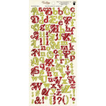 Fancy Pants Designs - Tradition Collection - Christmas - Alphabet Cardstock Stickers