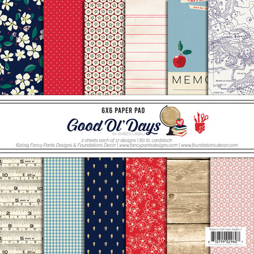 Fancy Pants Designs - Good Old Days Collection - 6 x 6 Paper Pad