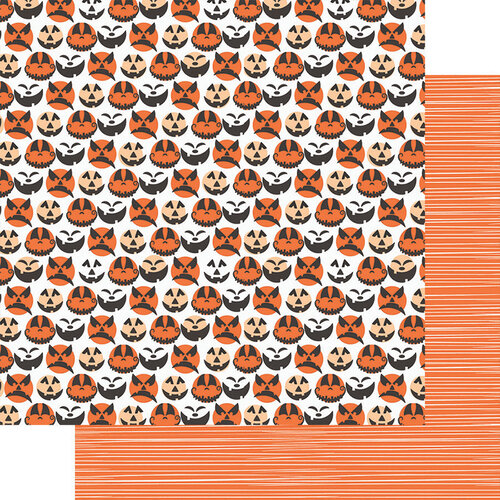 Fancy Pants Designs - Halloween - Howl Collection - 12 x 12 Double Sided Paper - Jack