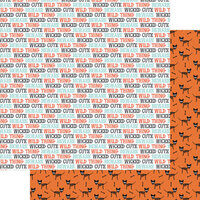 Fancy Pants Designs - Halloween - Howl Collection - 12 x 12 Double Sided Paper - Wicked Cute