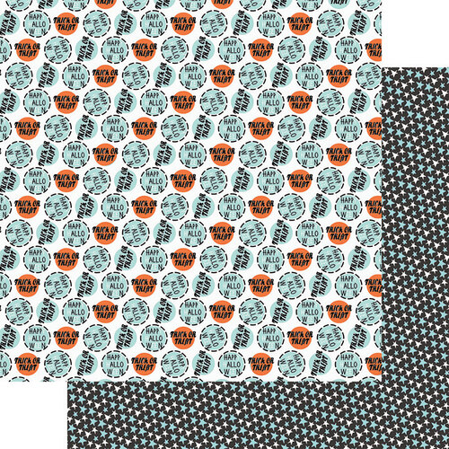 Fancy Pants Designs - Halloween - Howl Collection - 12 x 12 Double Sided Paper - Trick or Treat