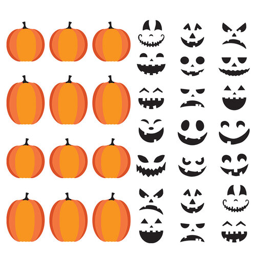 Fancy Pants Designs - Halloween - Howl Collection - Stickers - DIY Jack-O-Lanterns
