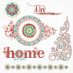 Fancy Pants Designs - Lilac House Collection - 12 x 12 Glitter Cuts Transparencies