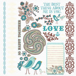 Fancy Pants Designs - Happy Together Collection - Rub Ons