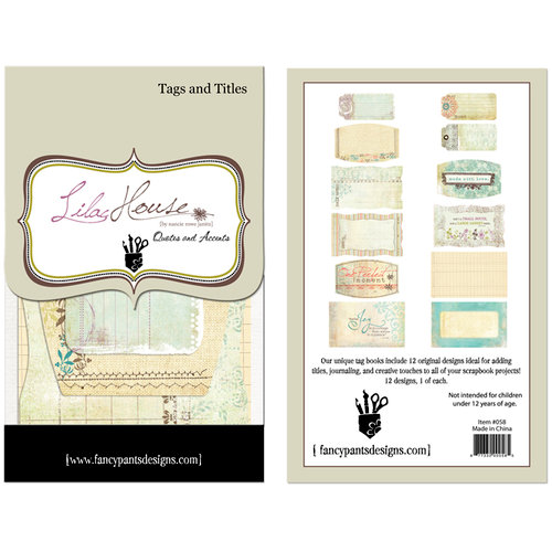 Fancy Pants Designs - Lilac House Collection - Tags and Titles