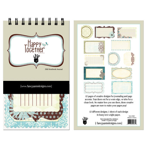 Fancy Pants Designs - Happy Together Collection - 5 x 8 Notebook Journal