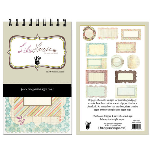 Fancy Pants Designs - Lilac House Collection - 5 x 8 Notebook Journal