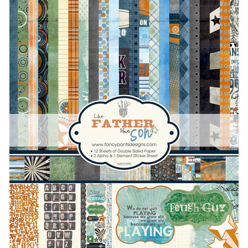 Fancy Pants Designs - Like Father Like Son Collection - 12 x 12 Paper Kit, BRAND NEW - click to enlarge