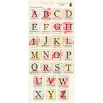 Fancy Pants Designs - Wishful Thinking Collection - Alphabet Cardstock Stickers - Square