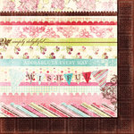 Fancy Pants Designs - Wishful Thinking Collection - 12 x 12 Double Sided Paper - Strips
