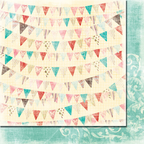 Fancy Pants Designs - Wishful Thinking Collection - 12 x 12 Double Sided Paper - Banner
