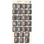Fancy Pants Designs - Like Father Like Son Collection - Alphabet Cardstock Stickers - Square