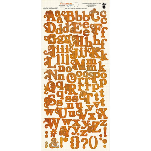 Fancy Pants Designs - Like Father Like Son Collection - Alphabet Cardstock Stickers - Orange