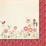 Fancy Pants Designs - Love Birds Collection - 12 x 12 Double Sided Paper - True Love
