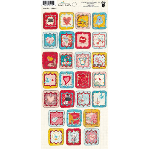 Fancy Pants Designs - Love Birds Collection - Cardstock Stickers - Square