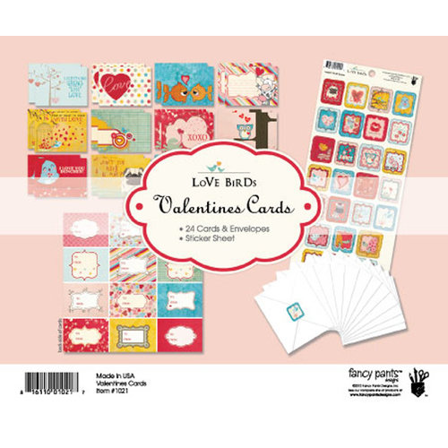 Fancy Pants Designs - Love Birds Collection - Valentine Cards Kit