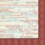 Fancy Pants Designs - Hot Chocolate Collection - 12 x 12 Double Sided Paper - January, BRAND NEW