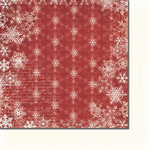 Fancy Pants Designs - Hot Chocolate Collection - 12 x 12 Double Sided Paper - Glistening Snow, BRAND NEW