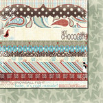Fancy Pants Designs - Hot Chocolate Collection - 12 x 12 Double Sided Paper - Hot Chocolate Strips