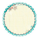 Fancy Pants Designs - Hot Chocolate Collection - 12 x 12 Die Cut Paper - Hot Chocolate Flower