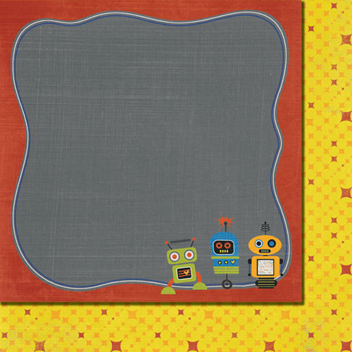 Fancy Pants Designs - To the Moon Collection - 12 x 12 Double Sided Paper - Robots
