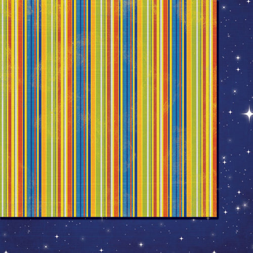 Fancy Pants Designs - To the Moon Collection - 12 x 12 Double Sided Paper - Moon Rays
