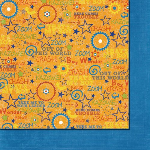 Fancy Pants Designs - To the Moon Collection - 12 x 12 Double Sided Paper - Kazowie