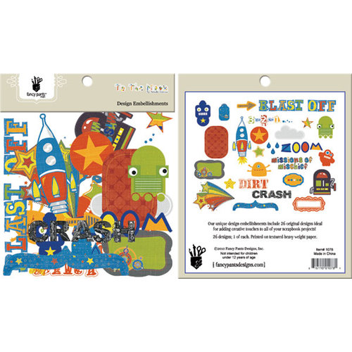 Fancy Pants Designs - To the Moon Collection - Design Embellishments - Die Cut Cardstock Pieces