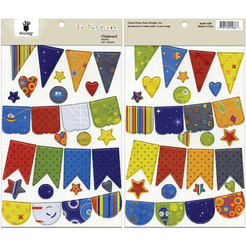 Fancy Pants Designs - To the Moon Collection - Chipboard Stickers - Banners