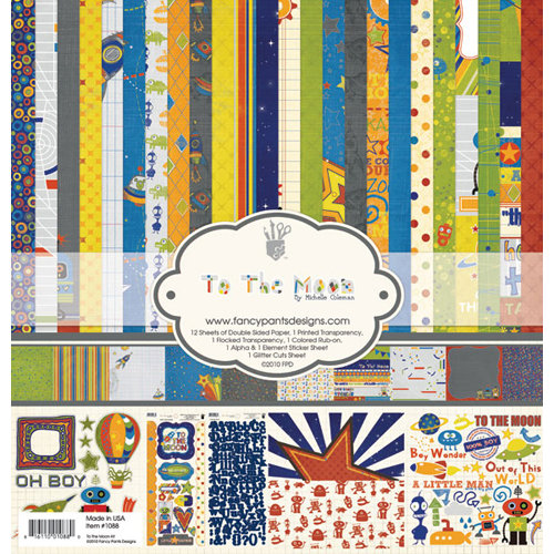 Fancy Pants Designs - To the Moon Collection - 12 x 12 Paper Kit