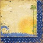 Fancy Pants Designs - Beach Bum Collection - 12 x 12 Double Sided Paper - Marina