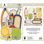 Fancy Pants Designs - Beach Bum Collection - Journal Embellishments - Die Cut Cardstock Pieces