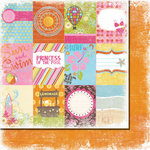 Fancy Pants Designs - Beach Babe Collection - 12 x 12 Double Sided Paper - Beach Babe Cards