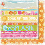 Fancy Pants Designs - Beach Babe Collection - 12 x 12 Double Sided Paper - Strips
