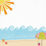 Fancy Pants Designs - Beach Babe Collection - 12 x 12 Printed Transparent Overlays