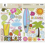 Fancy Pants Designs - Beach Babe Collection - Chipboard Stickers - Shapes, BRAND NEW