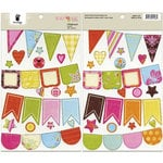 Fancy Pants Designs - Beach Babe Collection - Chipboard Stickers - Banners