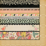Fancy Pants Designs - It's the Little Things Collection - 12 x 12 Double Sided Paper - It's the Little Things Strips