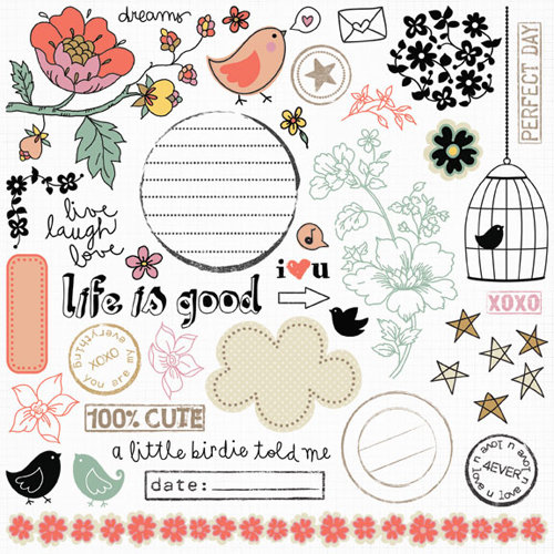 Fancy Pants Designs - It's the Little Things Collection - Rub Ons