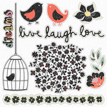 Fancy Pants Designs - It's the Little Things Collection - Glitter Cuts Transparencies