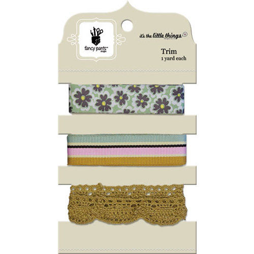 Fancy Pants Designs - It's the Little Things Collection - Ribbon Card