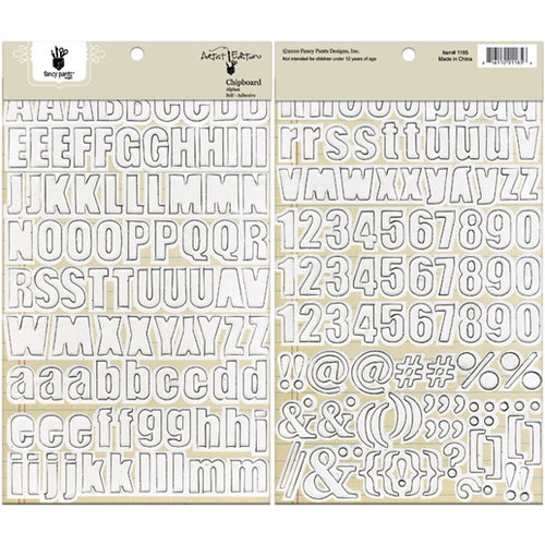 Fancy Pants Designs - Artist Edition Collection - Chipboard Stickers - Alphabet - White