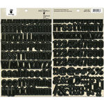 Fancy Pants Designs - Artist Edition Collection - Chipboard Stickers - Alphabet - Black