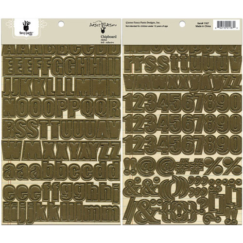 Fancy Pants Designs - Artist Edition Collection - Chipboard Stickers - Alphabet - Brown
